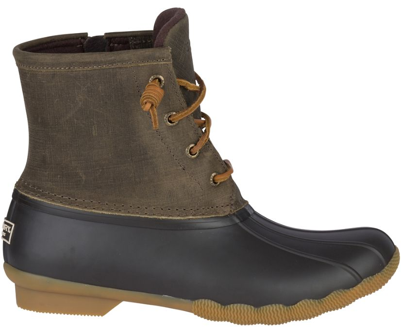 Saltwater Duck Boot, Brown/Olive, dynamic