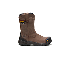 Spur Steel Toe Work Boot, Brown, dynamic