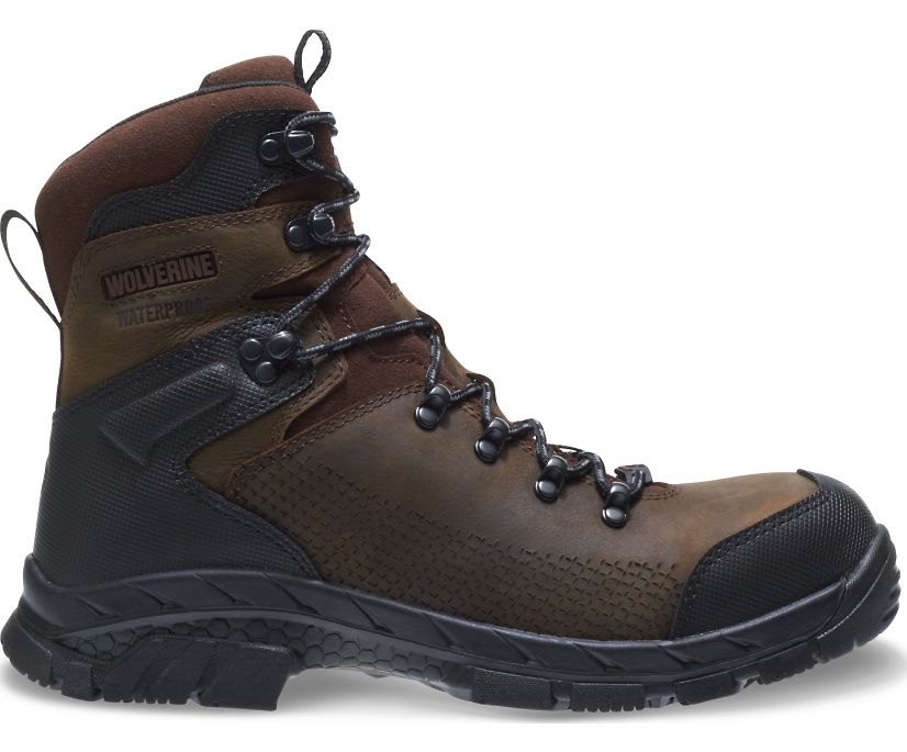 """Glacier Xtreme CSA EPX 8"""" Composite Toe Work Boot, Brown, dynamic"""