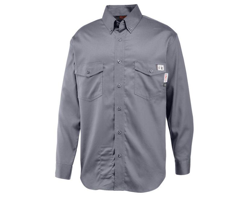 FR Twill Long Sleeve Shirt, Lead, dynamic