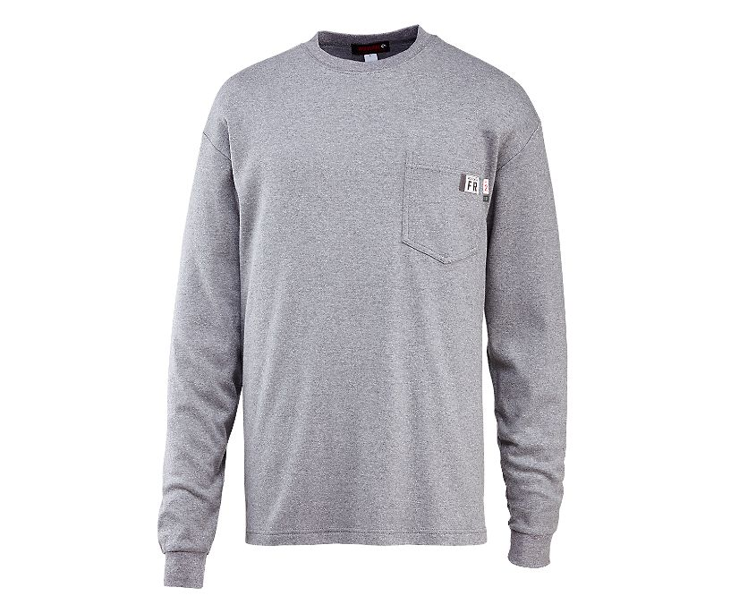 FR Long Sleeve Tee, Ash, dynamic