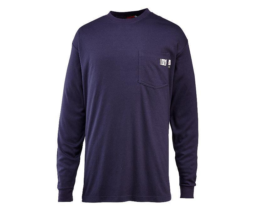 FR Long Sleeve Tee, Navy, dynamic