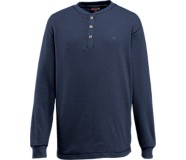 Walden Long Sleeve Henley, Navy, dynamic