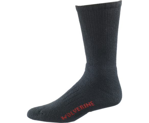 2-pk. Steel Toe Cotton Mid-Calf Sock, Black, dynamic