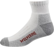 2-pk. Steel Toe Cotton Quarter Sock, White/Grey, dynamic