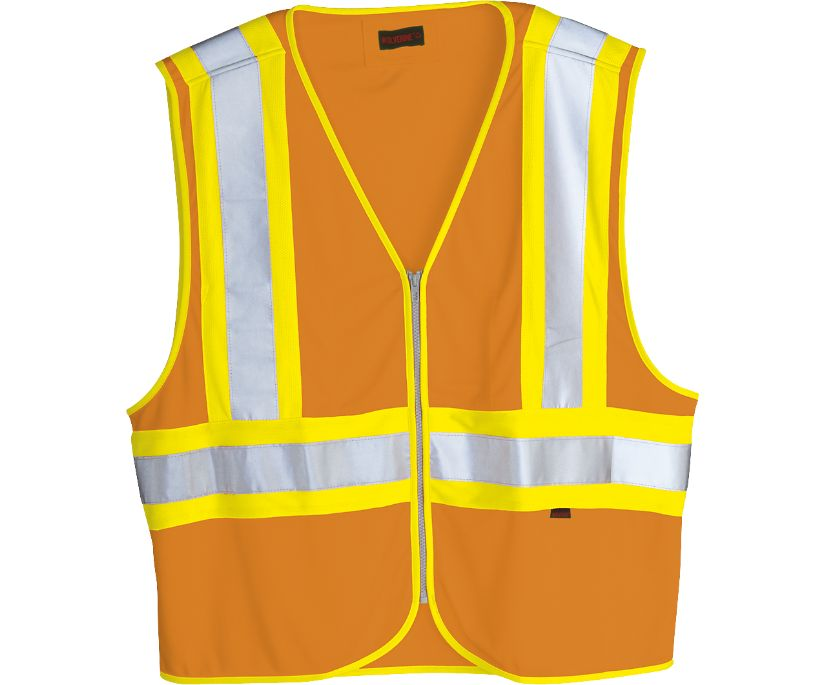 Mile Marker Vest, Hi Vis Orange, dynamic