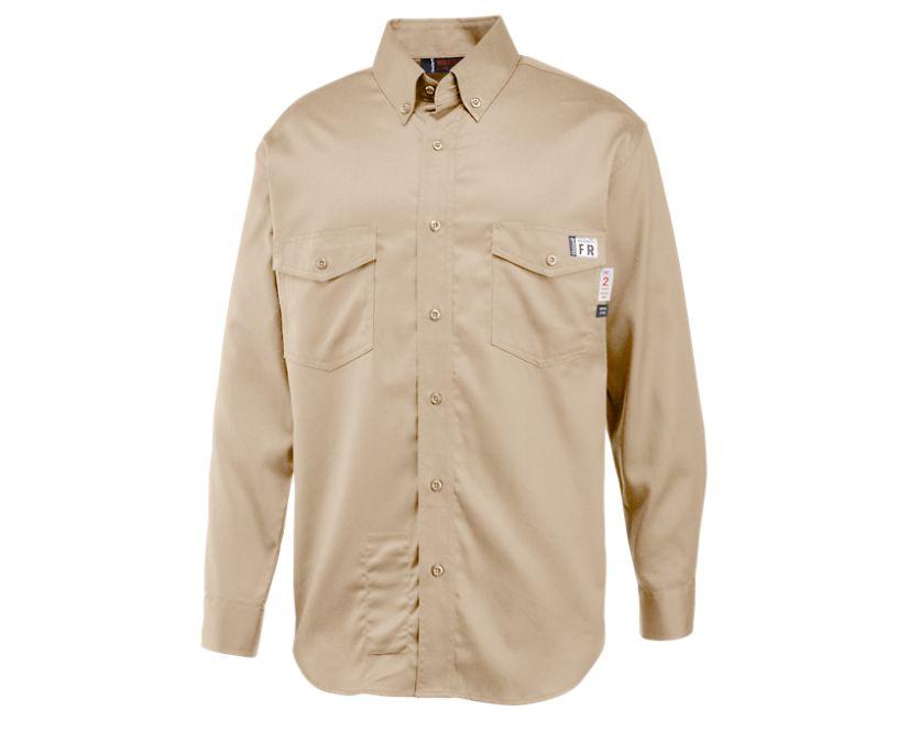FR Twill Long Sleeve Shirt, Khaki, dynamic