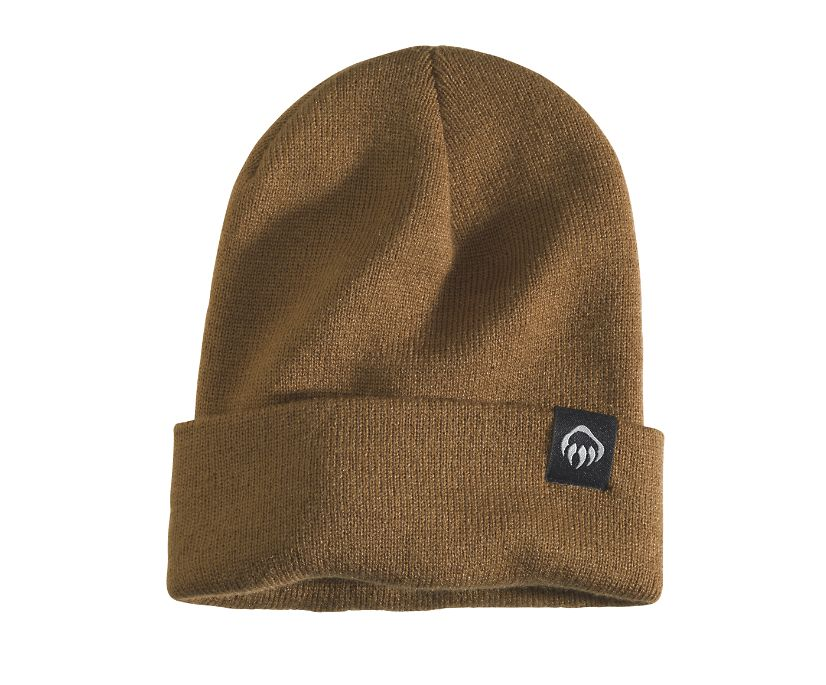 Knit Watch Cap, Chestnut, dynamic