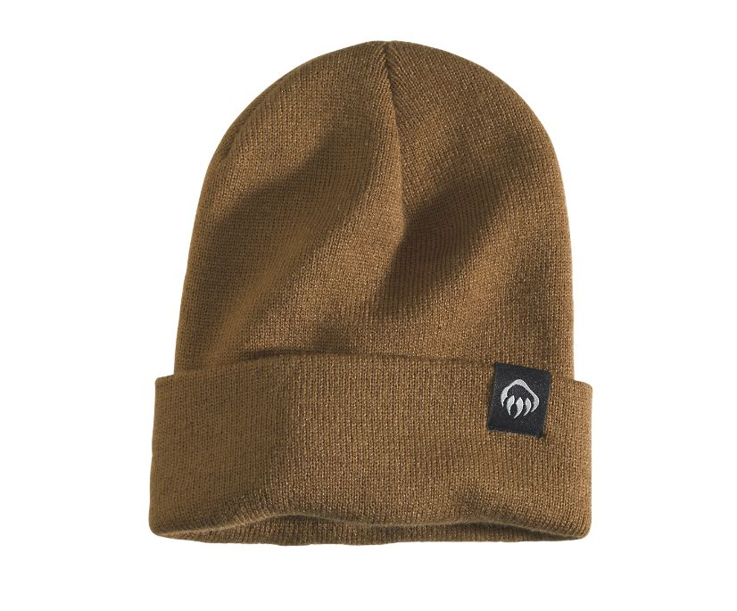 Fleeced Lined Knit Watch Cap, Chestnut, dynamic
