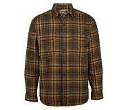 Escape Long Sleeve Flannel Shirt, Copper Plaid, dynamic