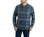 Escape Long Sleeve Flannel Shirt, SLATE BLUE PLAID, dynamic