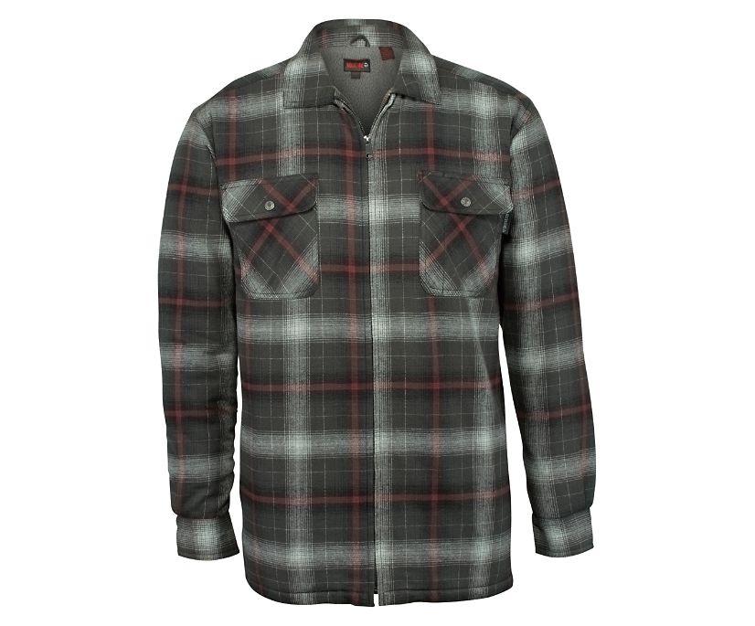 Marshall Shirt Jac, Gunmetal Plaid, dynamic