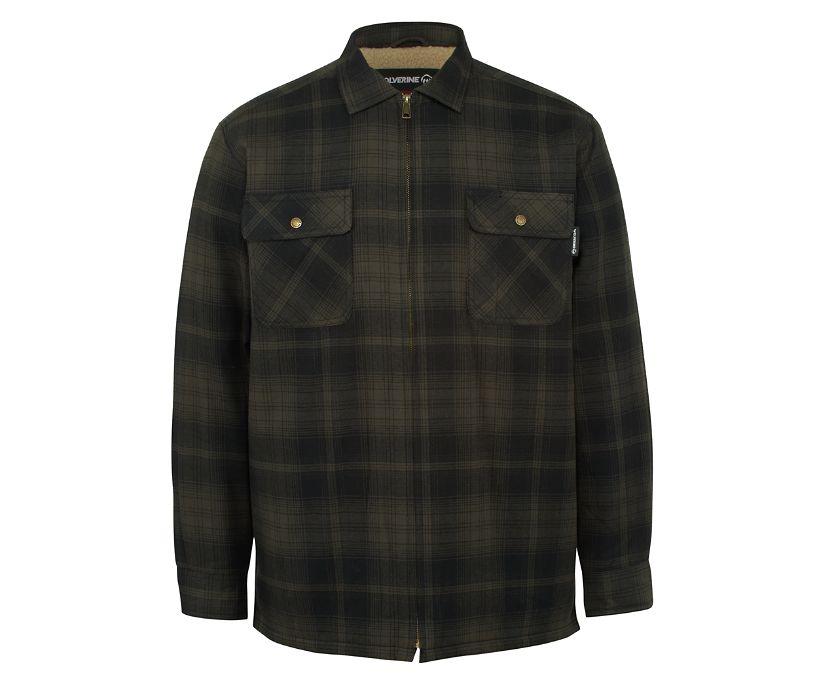 Marshall Shirt Jac, Shadow Gray Plaid, dynamic