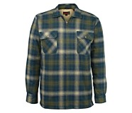 Marshall Shirt Jac, Slate Blue Plaid, dynamic