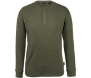Walden Long Sleeve Henley, Dark Olive Heather, dynamic