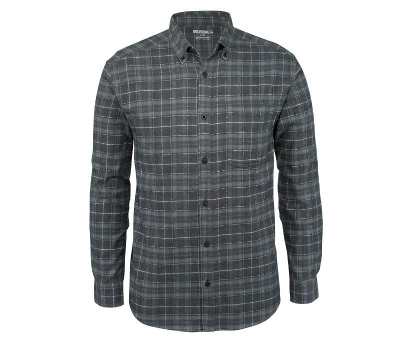 Hammond Long Sleeve Flannel Shirt, Gunmetal Plaid, dynamic