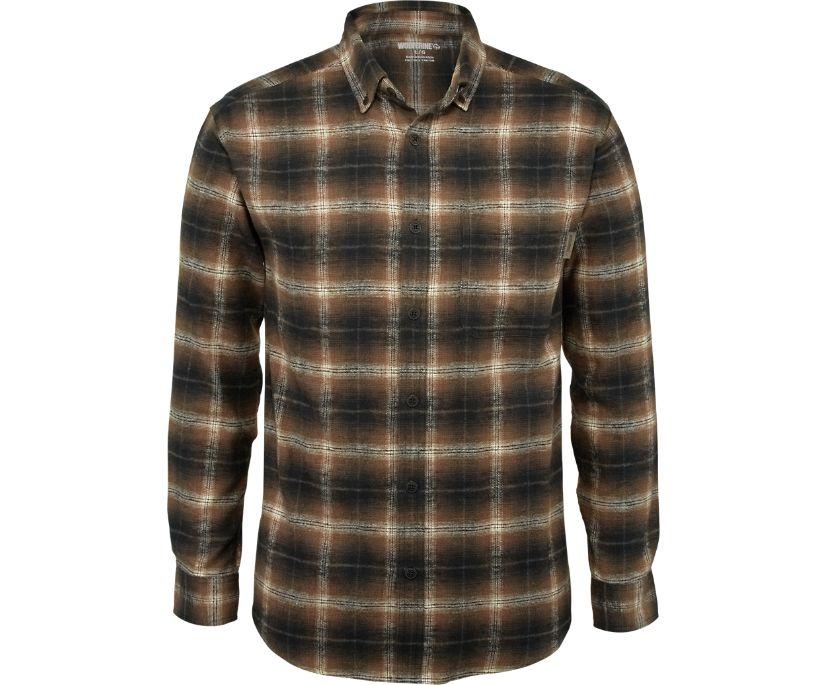 Hammond Long Sleeve Flannel Shirt, Copper Plaid, dynamic