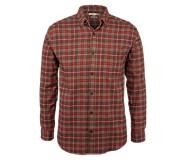 Hammond Long Sleeve Flannel Shirt, Taupe Plaid, dynamic