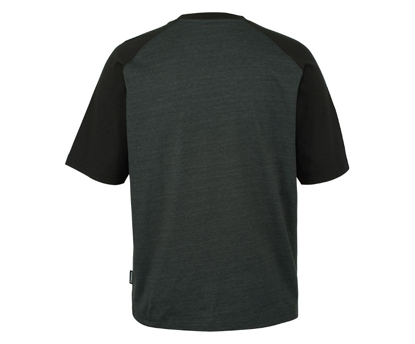 Brower Short Sleeve Raglan Tee, Onyx, dynamic