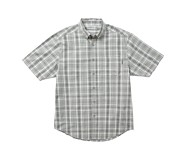 Mortar Short Sleeve Shirt, Concrete Plaid, dynamic