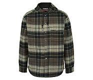 Bucksaw Bonded Shirt Jac, Charcoal Plaid, dynamic