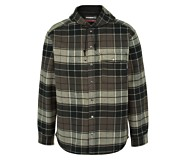 Bucksaw Bonded Shirt Jac, Charcoal Plaid, dynamic