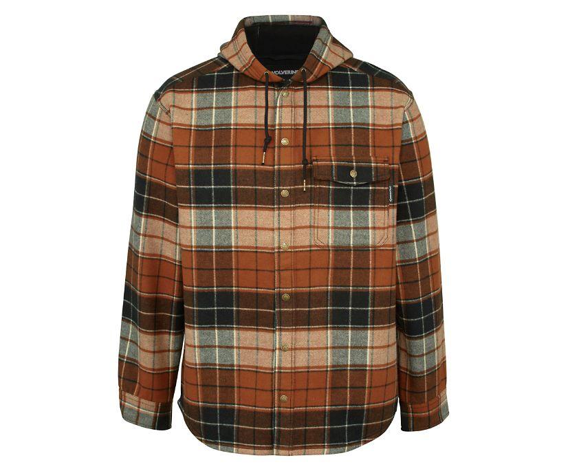 Bucksaw Bonded Shirt Jac, Espresso Plaid, dynamic