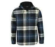 Bucksaw Bonded Shirt Jac, Blue Plaid, dynamic