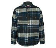 Bucksaw Bonded Shirt Jac, Dark Slate Plaid, dynamic