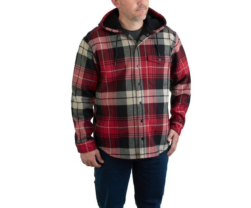 Bucksaw Bonded Shirt Jac, Chili Plaid, dynamic
