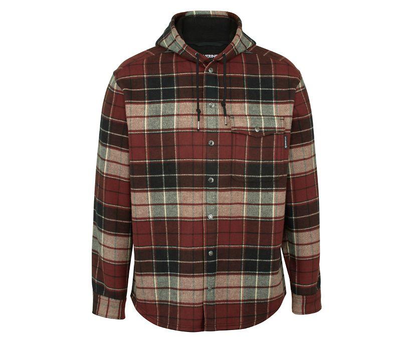 Bucksaw Bonded Shirt Jac, Redwood Plaid, dynamic