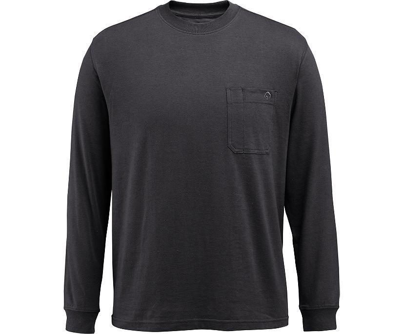 Knox Long Sleeve Tee, Black, dynamic
