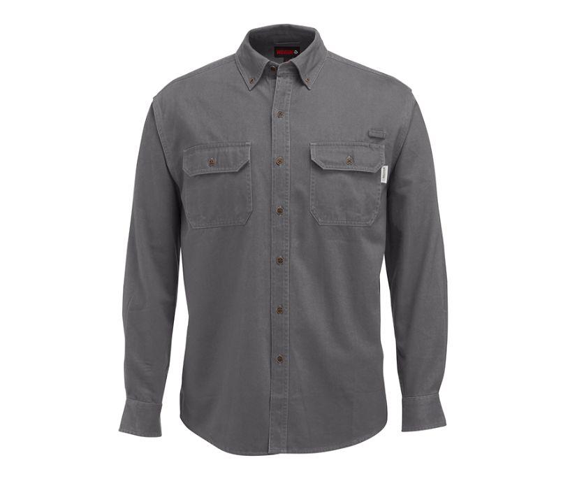 Fletcher Long Sleeve Twill  Shirt, Granite, dynamic