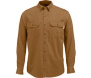 Fletcher Long Sleeve Twill  Shirt, Chestnut, dynamic
