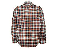 FR Plaid Long Sleeve Twill Shirt, Russet Plaid, dynamic
