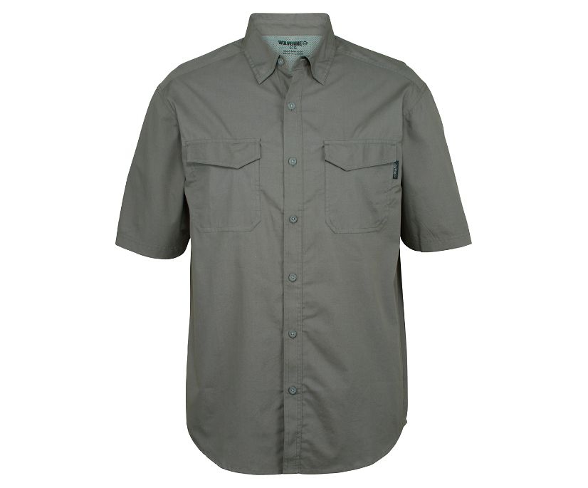 Pentwater Vented Back Short Sleeve Shirt (Big & Tall), Lead, dynamic