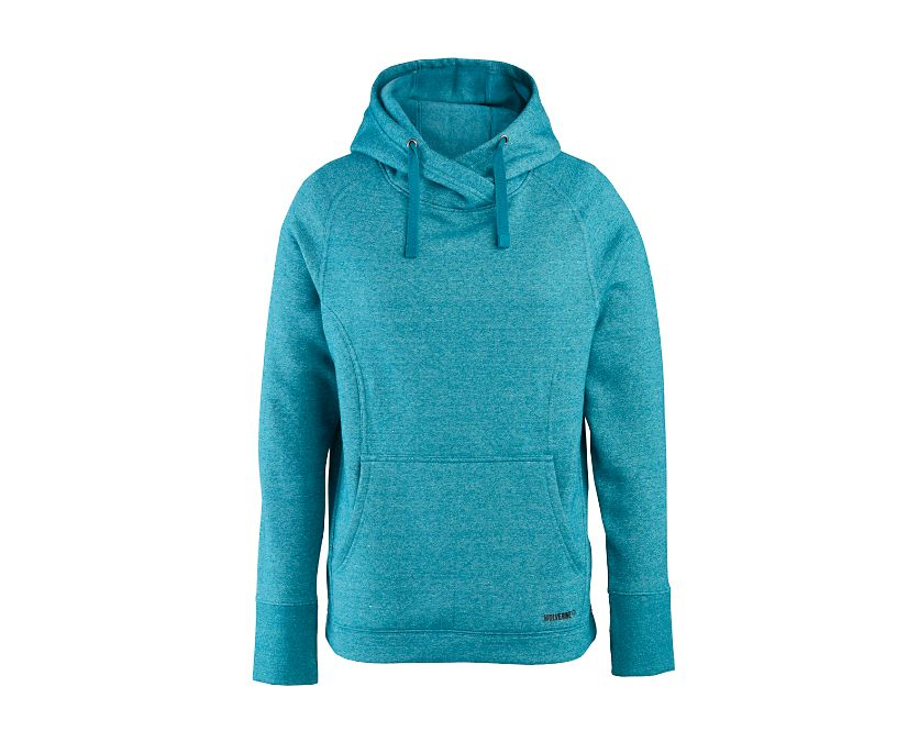 Madison Pullover Hoody, Lagoon Heather, dynamic