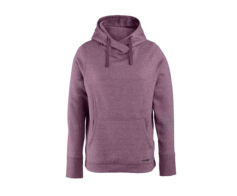 Madison Pullover Hoody, Plum Heather, dynamic