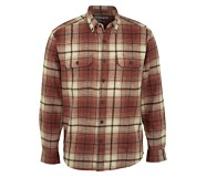 Glacier Heavyweight Long Sleeve Flannel Shirt, Oxblood Plaid, dynamic