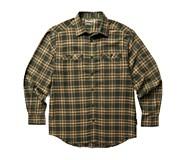 Grayson Stretch Flannel Shirt, Dark Olive Plaid, dynamic