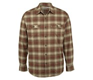 Grayson Stretch Long Sleeve Flannel, Oxblood Plaid, dynamic