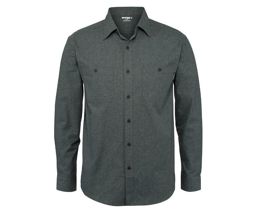 Plainwell Long Sleeve Shirt, Onyx Heather, dynamic