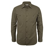 Plainwell Long Sleeve Shirt, Espresso Heather, dynamic