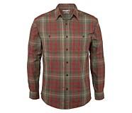 Plainwell Long Sleeve Shirt, Dark Brick Plaid, dynamic