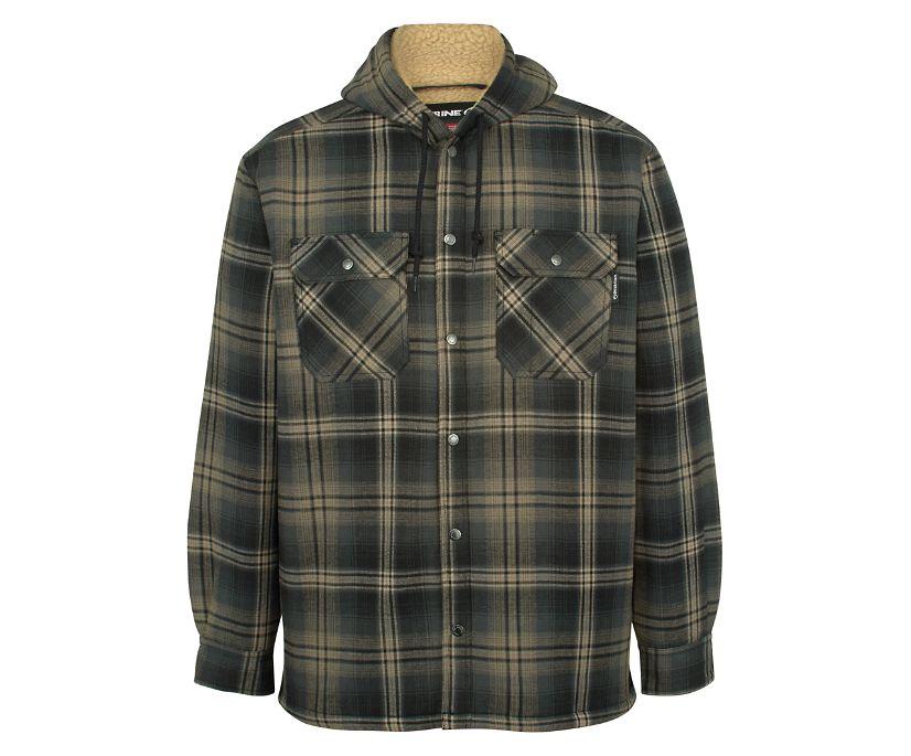 Byron Hooded Shirt JAC, Black Plaid, dynamic