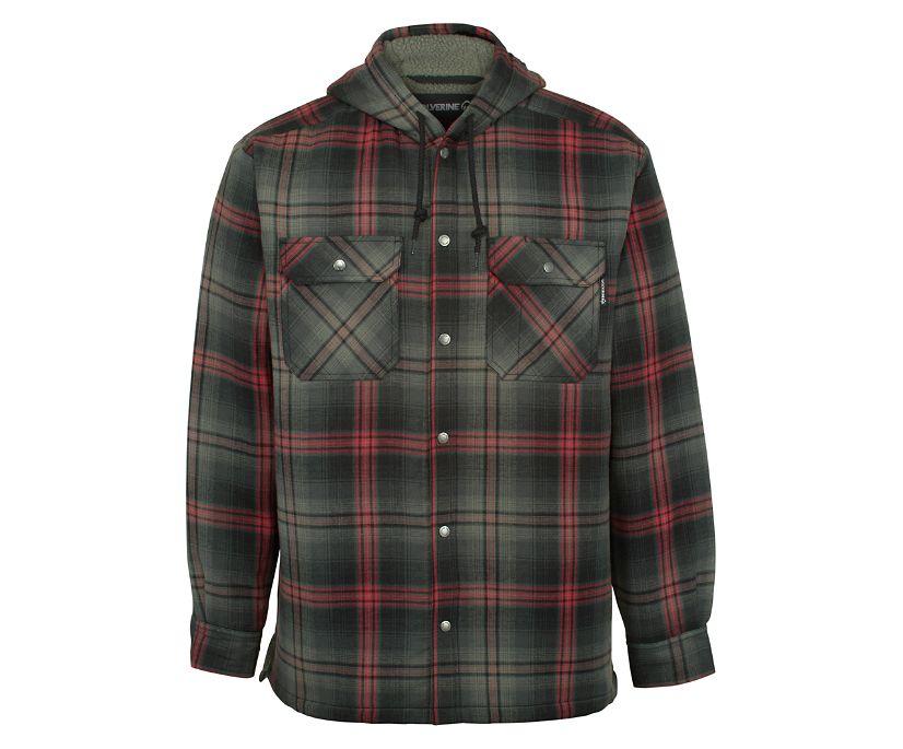 Byron Hooded Shirt JAC, Gunmetal Plaid, dynamic