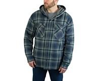 Byron Hooded Shirt JAC, Dark Navy Plaid, dynamic