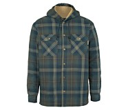 Byron Hooded Shirt JAC, Dark Slate Plaid, dynamic