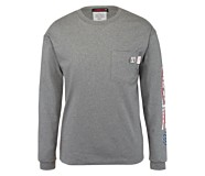 FR Long Sleeve Print Tee, Ash, dynamic