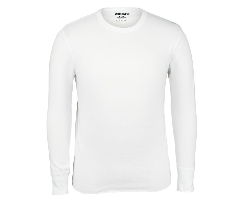 Classic Raschell Thermal Top, White, dynamic